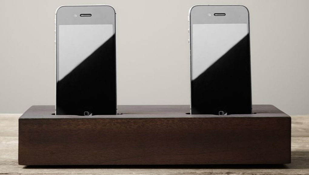 Double iPhone Charging Tray