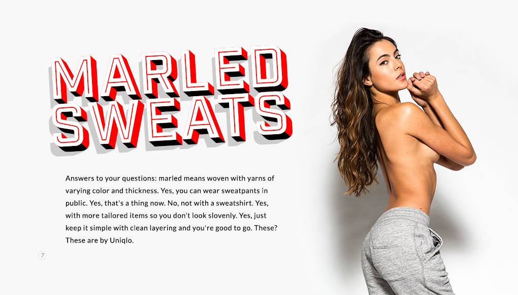Spring Style Issue 2014 - Marled Sweats
